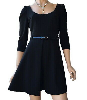 AU49.90 • Buy FOREVER NEW Black Belted Knit Dress Size 6 RRP $159