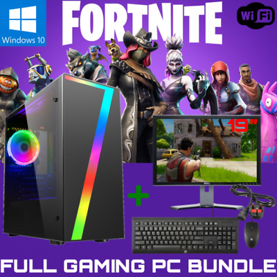 Fast Intel I5 Fortnite Gaming PC Bundle,8GB RAM, 500GB HDD, GT 710, WiFi, Win 10 • 219.99£
