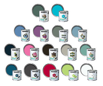 Ronseal Outdoor Exterior Garden Paint Wood Brick Metal Stone All Colour's -750ML • 12.49£