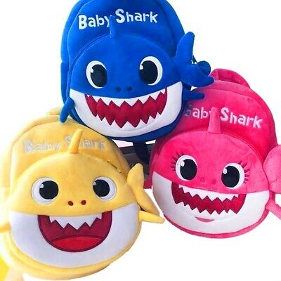$12.99 • Buy Baby Shark 3-D Cartoon Plush Backpack For Little Kids