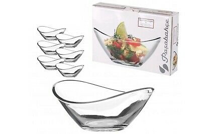 £7.25 • Buy 6 X Pasabahce Small Clear Glass Dessert Bowls Curved Ice Cream Fruit Sundae Dish