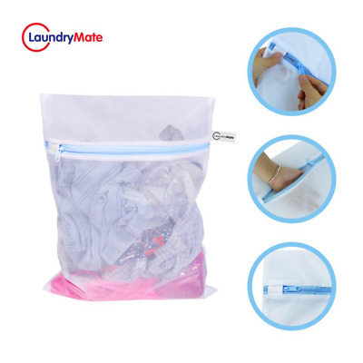 Zipped Mesh Laundry Bags Washing Net Wash Bags Underwear Clothes Socks Lingerie • 3.99£