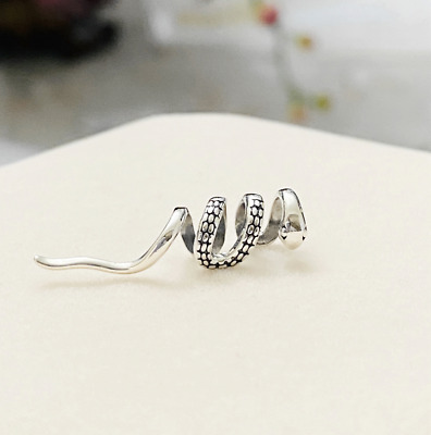 $12.98 • Buy One Piece S925 Sterling Silver Snake Clip On Ear Cuff No Piercing
