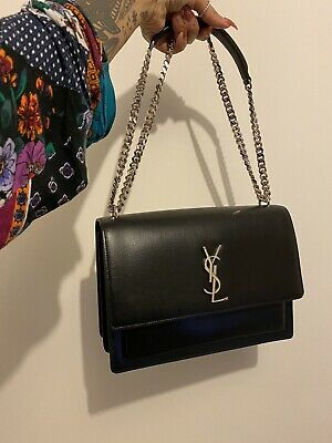 AU3000 • Buy Authentic YSL Saint Laurent Sunset Smooth Calfskin Leather Bag IN LARGE