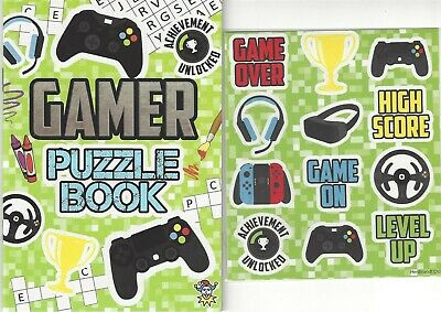 £1.45 • Buy Set Children's Gamer Colouring Puzzle Book Stickers Kids Activity Boys Girls
