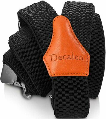$17.95 • Buy Decalen Mens Suspenders Very Strong Clips Heavy Duty Braces One Size Fits All...