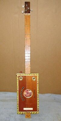 $149.99 • Buy Unique Handmade Wood Punch Cigar Box Guitar 3 String Electric J0336