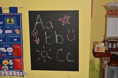 $5 • Buy Blackboard Chalk Wall Decal 6ft X 1.5ft Cut To Any Shape For Kids ISwaag  P1