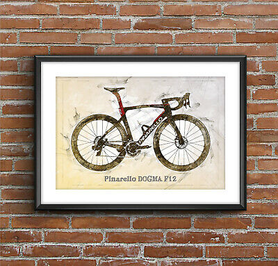 $25 • Buy Pinarello DOGMA F12 – Cycling Print - Art Sketch Poster [without Frame]