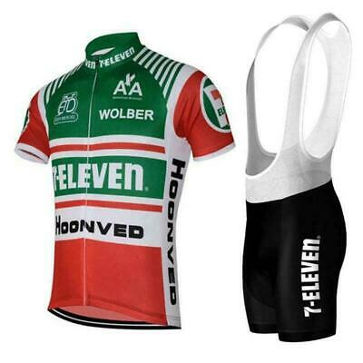AU27.85 • Buy Retro 1986 7-Eleven Davis Phinney Cycling Jersey And  Bib Short Set
