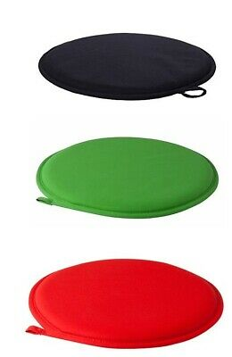 Chair Pad Black/GREEN /RED Seat Cushions Home Dining Chairs Round 34cm • 10.20£