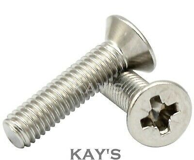 £2.47 • Buy M3 M4 M5 M6 Pozi Countersunk Machine Screws A2 Stainless Steel Posidrive Bolts