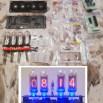£54.77 • Buy DIY KIT With Used Tubes Nixie Clock 4x IN-14+IN3 RGB Backlight Alarm *All Parts*