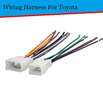 $7.99 • Buy Car Aftermarket Install Radio Wire Harness Adapter Plugs For Toyota Camry Tacoma