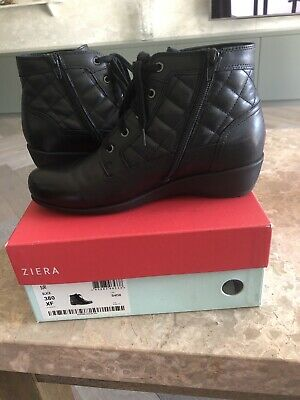 AU299 • Buy Ziera Designer Suri Boots, Black, Leather, Size 38, BNWT, Orthotic Friendly