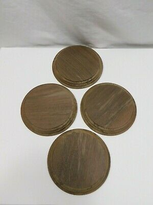 $9.61 • Buy Unfinished Wooden Round Plaque Stand Base Sign 6 X 3/4 Peruvian Walnut Wood