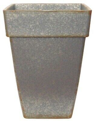 Garden Superstore - Euro Planter Tall Square 38cm Galvanised Effect • 27.99£