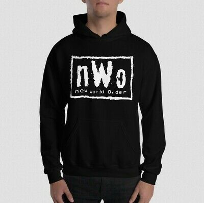 Official WWE Authentic T-Shirt HOODIE NWO NEW WORLD ORDER HOGAN NASH HALL • 35£