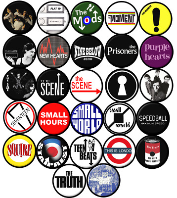 Weller Jam Who Scooter Mod NORTHERN SOUL 25mm Button Badge 1 inch
