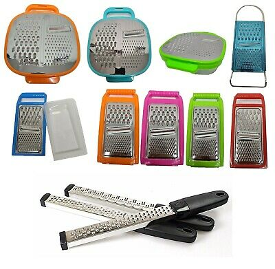 Stainless Steel Cheese Nutmeg Ginger Veg Grater Storage Tub Container Option • 3.35£