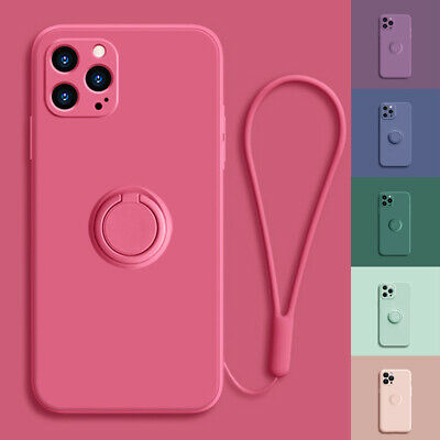 AU11.99 • Buy For IPhone 12/Pro/Max 11 XR Xs Shockproof Silicone Ring Case Stand Lanyard Cover