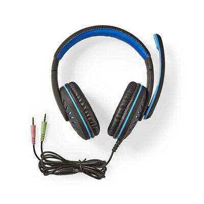 3.5mm STEREO COMPUTER HEADSET With MICROPHONE | Gaming Zoom Or Skype PC Chat • 12.99£