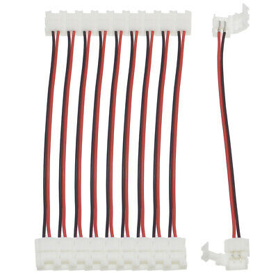 $5.99 • Buy 10Pcs Silicone Clip-on Connector Wire 2 Pin 8mm For 3528 2835 LED Strip Light