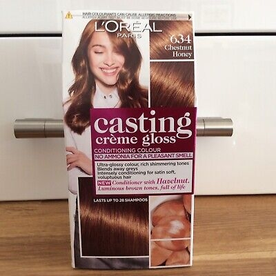 L'Oreal Casting Creme Gloss Chestnut Honey 634 Hair Dye Colour Semi-Permanent • 16.99£