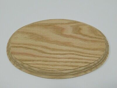 $12.79 • Buy Unfinished Wooden Oval Plaque Stand Base Sign 10 X 6 1/2 X 7/8 Red Oak Wood