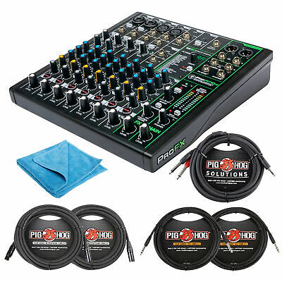 $249.99 • Buy Mackie 10 Channel Professional Effects Mixer With USB Bundle W/ Cables And Cloth