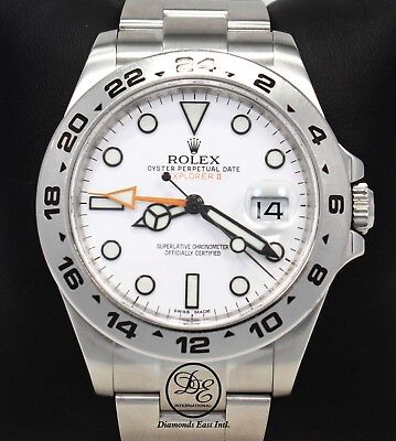$ CDN15223.14 • Buy Rolex Explorer II 216570 Steel White Dial GMT Date Oyster 42mm Watch PAPERS MINT
