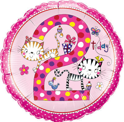 AU8.99 • Buy 2nd BIRTHDAY BALLOON 18  GIRL RACHEL ELLEN DESIGN 2 TODAY! QUALATEX  BALLOON