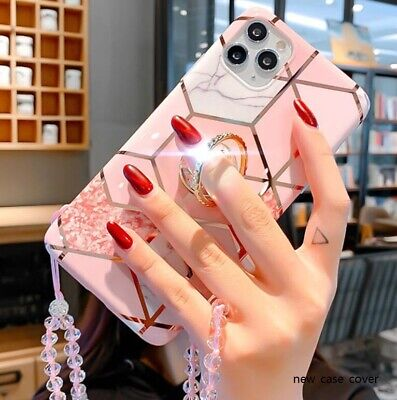 AU11.57 • Buy Marble Case With Up Holder Phone For IPhone 11 8 XS Max XR Cases Ring Relief