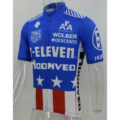 AU30.39 • Buy 7 Eleven 11 USA Blue Retro Cycling Jersey Mens Cycling Short Sleeve Jersey