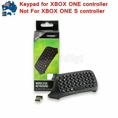 AU49.99 • Buy AU 2.4G Black Wireless Message Chatpad Keyboard KeyPad For Xbox One Controller