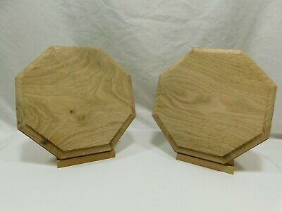 $15.26 • Buy Unfinished Wood Plaque Stand Base Or Sign  Octagon 8 X 8 X 7/8  Butternut Wood