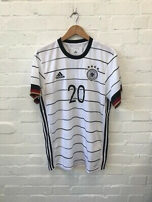 Germany Adidas Men's 2020-21 Home Football Shirt - L - Gnabry 20 - New • 39.99£