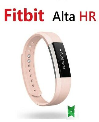 $ CDN103.71 • Buy Fitbit Alta HR FB408RGPK Fitness Activity Tracker Leather Blush Pink Small Large