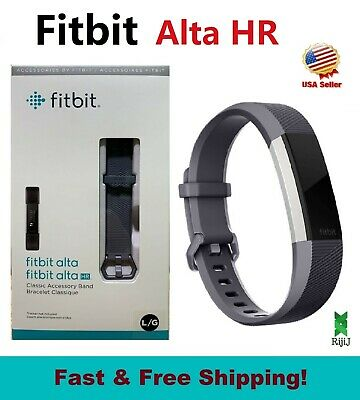 $ CDN96.91 • Buy Fitbit Alta HR, FB408SGYL Activity Tracker, HR Monitor, Blue Graphite Gray Large