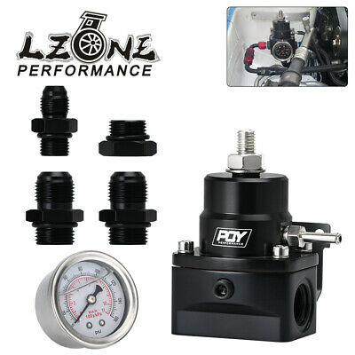 AU39.90 • Buy Adjustable PQY Fuel Pressure Regulator FPR With Gauge E85 -8AN 8/8/6 Fittings