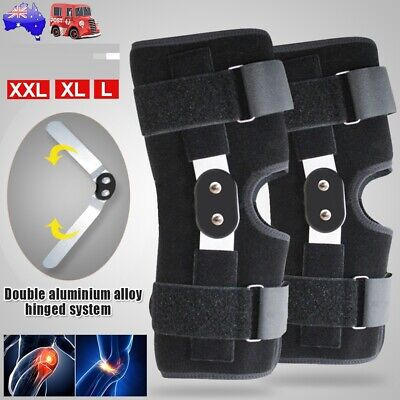 AU19.99 • Buy Adjustable Double Metal And Hinged Knee Brace Support Protection Arthritis Sport