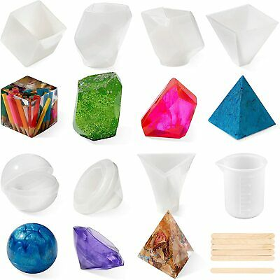 £13.49 • Buy 8 Pack Epoxy Resin Moulds DIY Jewellery Crafts Moulds Casting Starter Tool Kit