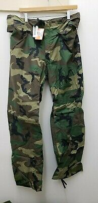 $16 • Buy Military Issued Woodland Rainsuit Trousers-NEW-S