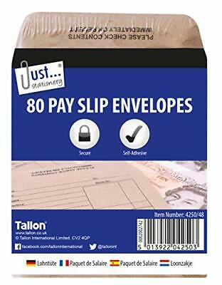 £9.31 • Buy Tallon Just Stationery 100x110mm Wage Packet Pack Of 80