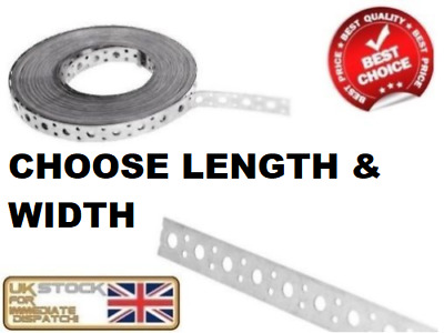 £9.65 • Buy ENGINEERS FIXING BAND STEEL METAL PUNCHED PERFORATED STRIP STRAP 20mm 25mm 50mm