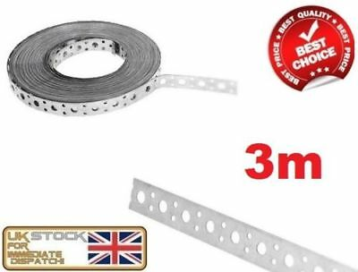 £12.95 • Buy ENGINEERS FIXING BAND STEEL METAL PUNCHED PERFORATED STRIP STRAP 3m X 20 X 1mm