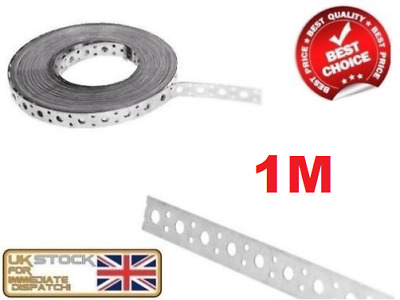 £5.85 • Buy ENGINEERS FIXING BAND STEEL METAL PUNCHED PERFORATED STRIP STRAP 1m X 20 X 1mm
