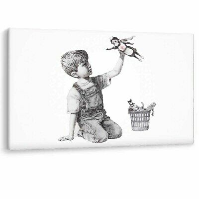Banksy Game Changer Framed Canvas NHS Nurse Super Hero Wall Art Picture Print A1 • 12.95£