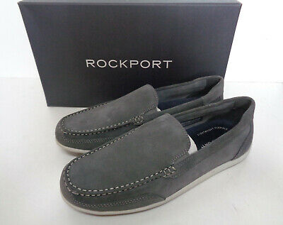 Rockport Venetian Mens Grey Suede Leather Slip On Shoes RRP £80 New Sizes 7 8 9 • 29.98£
