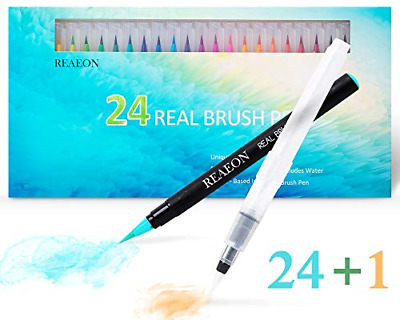$22.85 • Buy Watercolor Brush Pen Real Brush Pen 24 Color Painting Markers Flexible Nylon Tip